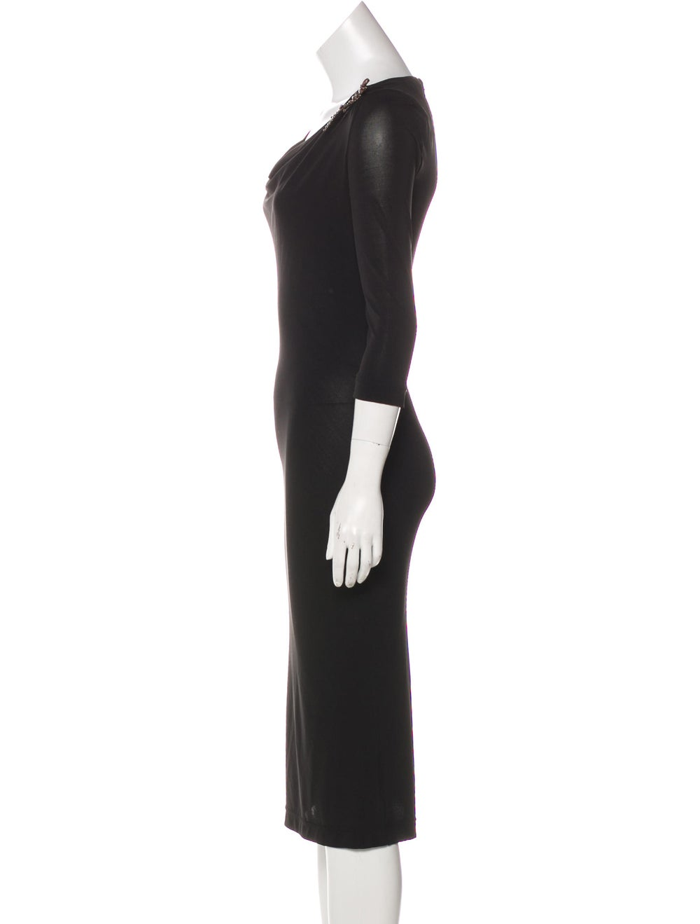Dolce & Gabbana Embellished Knit Dress Black - image 2