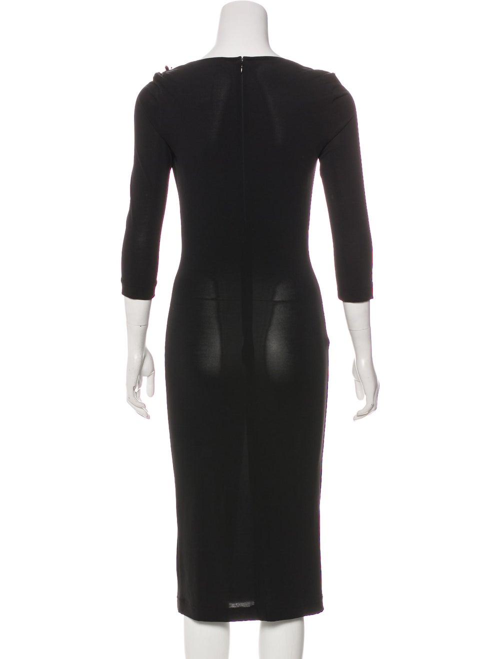 Dolce & Gabbana Embellished Knit Dress Black - image 3