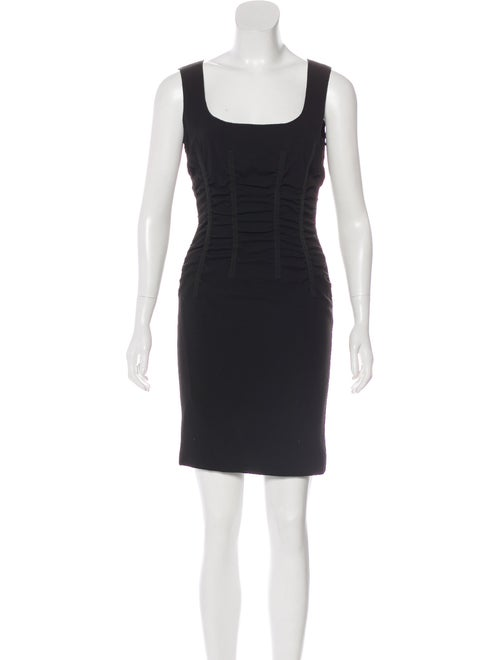 Dolce & Gabbana Square Neck Mini Dress Black