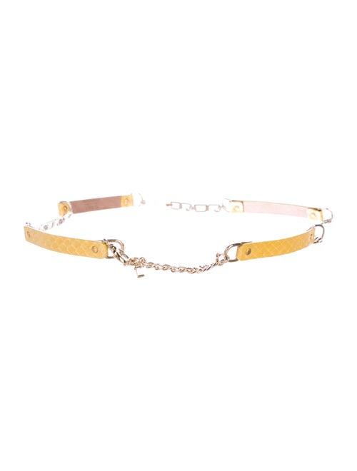 Dolce & Gabbana Snakeskin Hip Belt Yellow