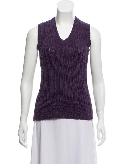 Dolce & Gabbana Knit Sleeveless Sweater Purple