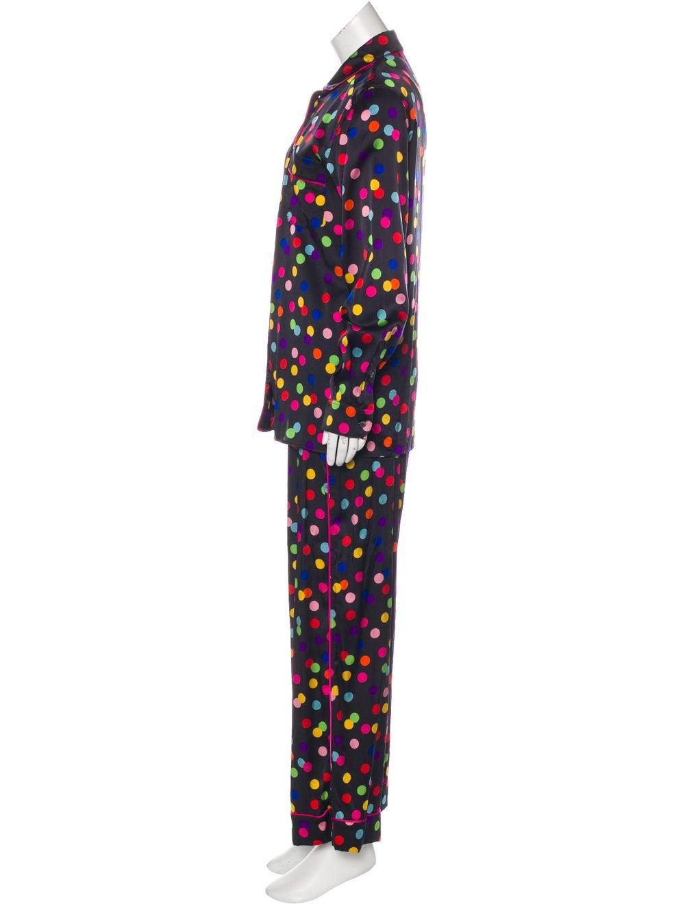 Dolce & Gabbana Polka Dot Silk Pajama Set Black - image 2