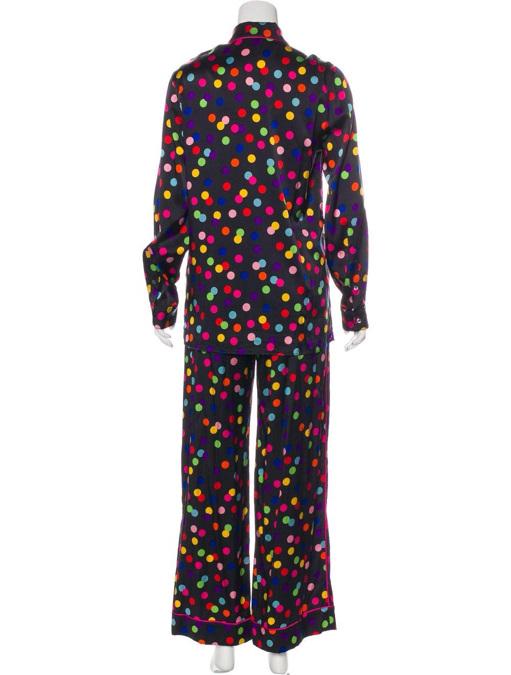 Dolce & Gabbana Polka Dot Silk Pajama Set Black - image 3
