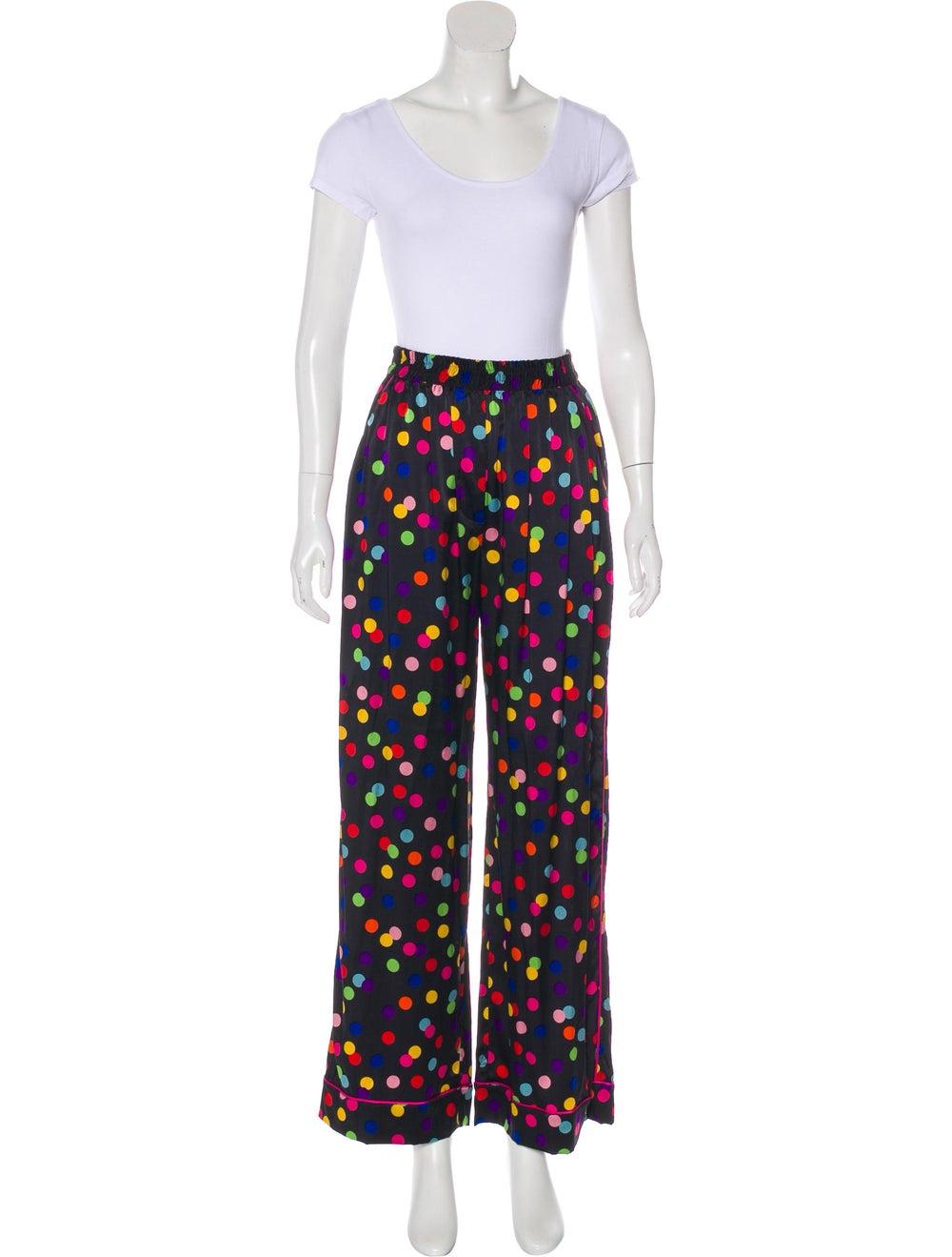 Dolce & Gabbana Polka Dot Silk Pajama Set Black - image 4