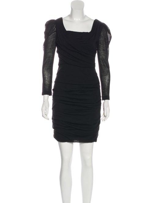 Dolce & Gabbana Long Sleeve Sweater Dress Black