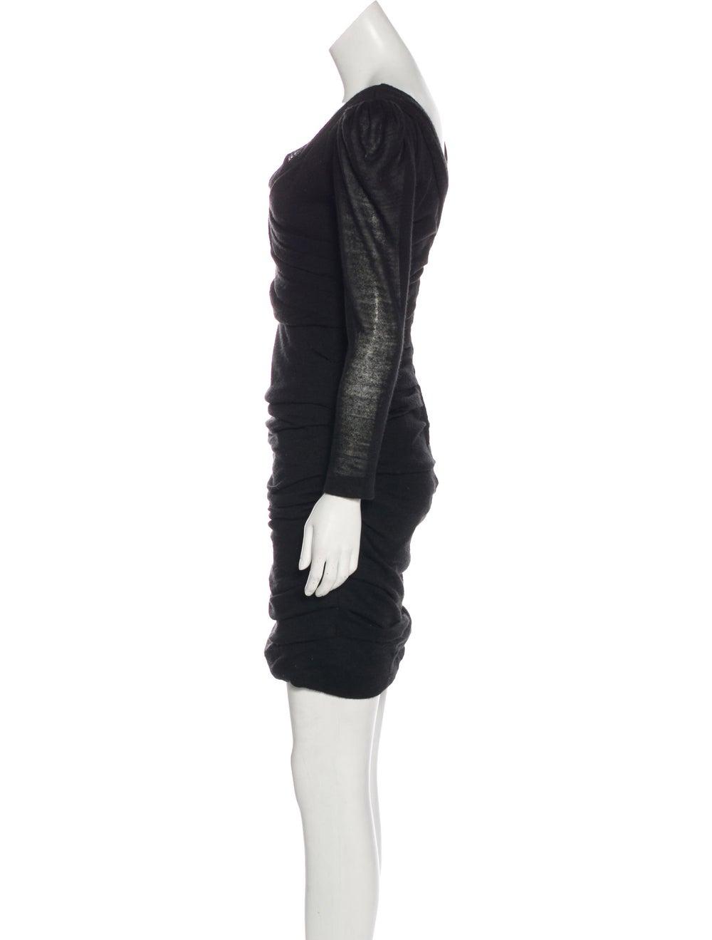 Dolce & Gabbana Long Sleeve Sweater Dress Black - image 2