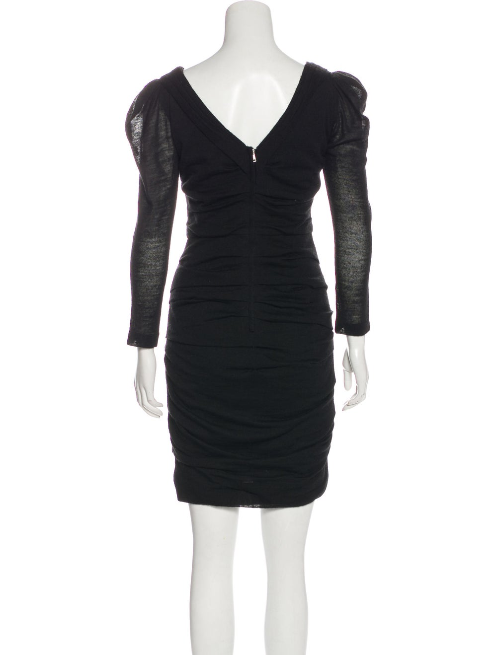 Dolce & Gabbana Long Sleeve Sweater Dress Black - image 3