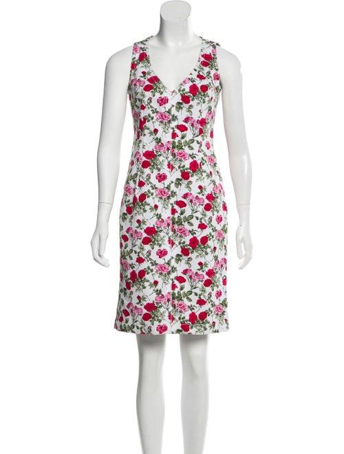 Dolce & Gabbana Printed Sleeveless Dress White