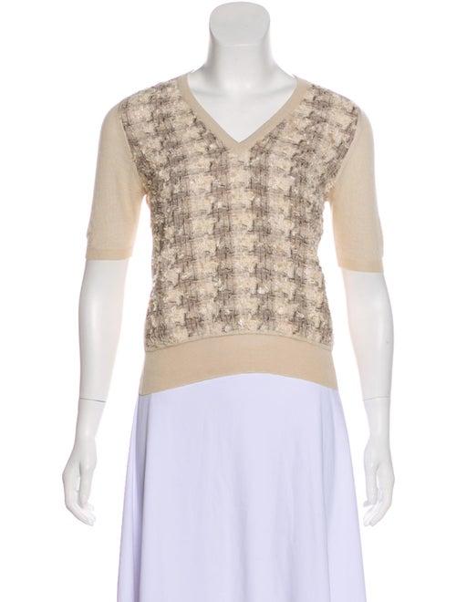 Dolce & Gabbana Textured Knit Sweater Beige
