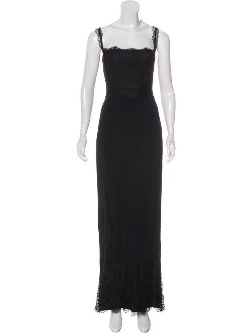 Dolce & Gabbana Lace Maxi Dress Black