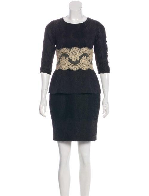 Dolce & Gabbana Lace Mini Dress Black