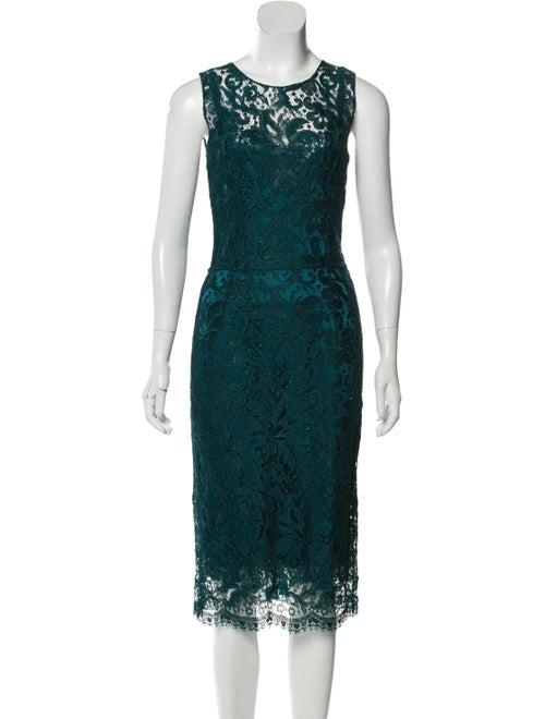 Dolce & Gabbana Lace Midi Dress Blue