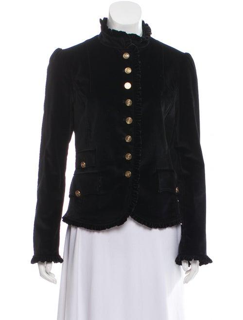 Dolce & Gabbana Ruffle-Accented Velvet Jacket