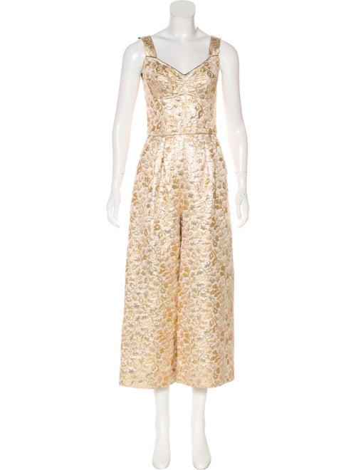 Dolce & Gabbana Sleeveless Metallic Jumpsuit w/ Ta