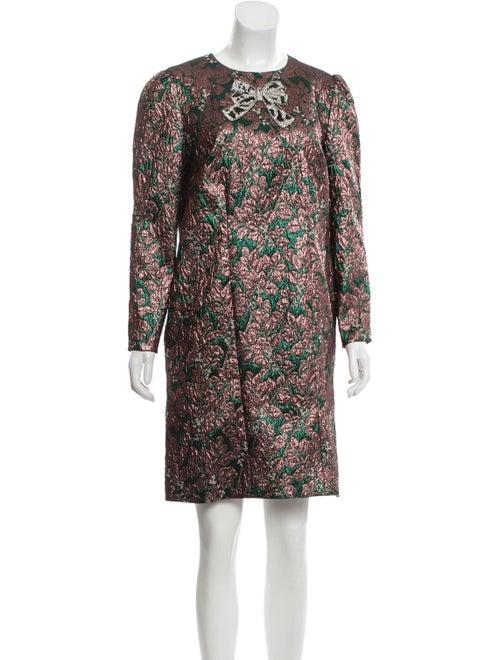 Dolce & Gabbana Jacquard Mini Dress Pink