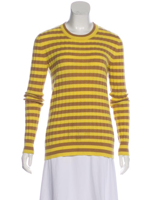 Dolce & Gabbana Striped Knit Pullover Yellow