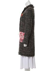 Dolce & Gabbana Bouclé Knee-Length Coat