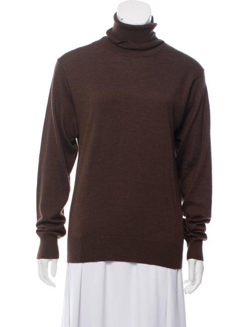 Dolce & Gabbana Turtleneck Knit Sweater Brown