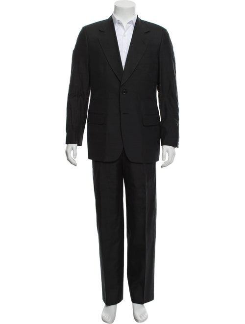 Dolce & Gabbana Silk Textured Two-Piece Suit black