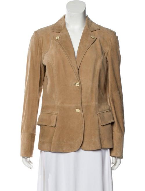 Dolce & Gabbana Goat Leather Blazer Brown