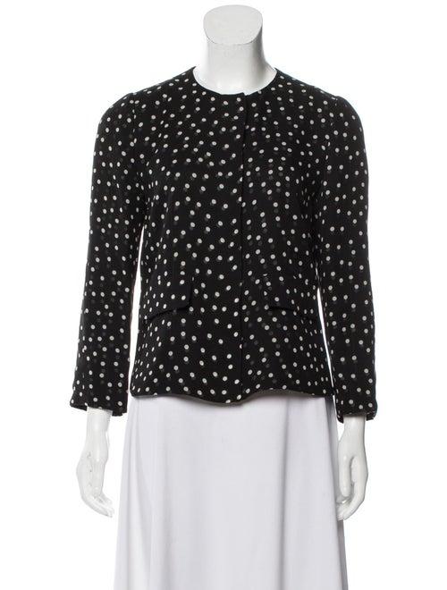 Dolce & Gabbana Silk Polka Dot Top Black