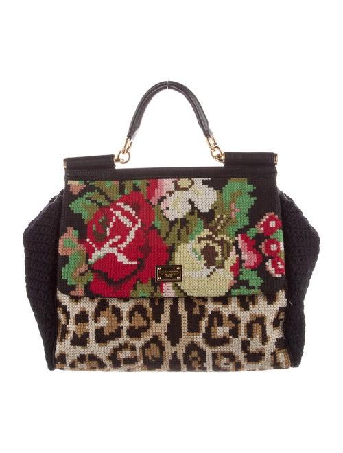 Dolce & Gabbana Crochet Frame Bag Black