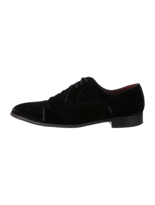 Dolce & Gabbana Velvet Derby Shoes black