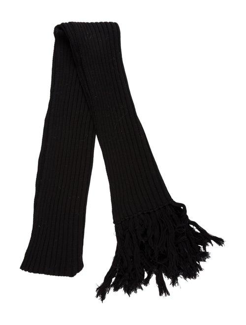 Dolce & Gabbana Wool Knit Scarf Black