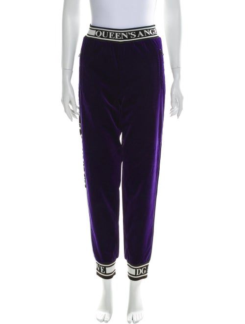 Dolce & Gabbana Printed Sweatpants Purple