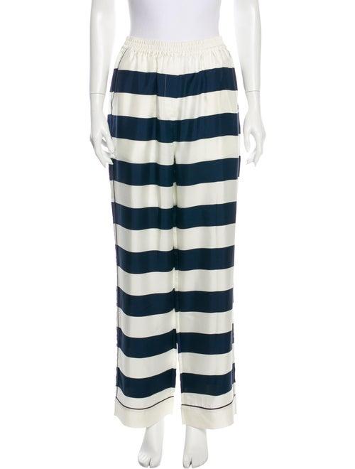 Dolce & Gabbana Silk Striped Pajamas Blue