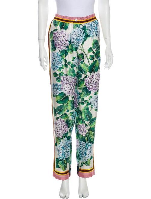 Dolce & Gabbana Silk Floral Print Pajamas