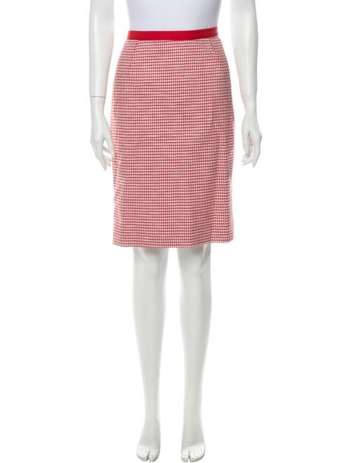 Dolce & Gabbana Houndstooth Knit Skirt Red