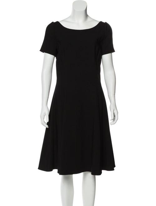 Dolce & Gabbana Flared Knee-Length Dress Black