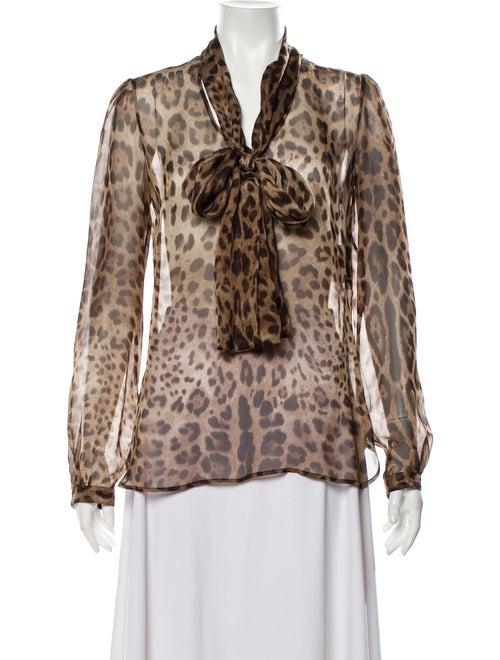 Dolce & Gabbana Silk Animal Print Blouse