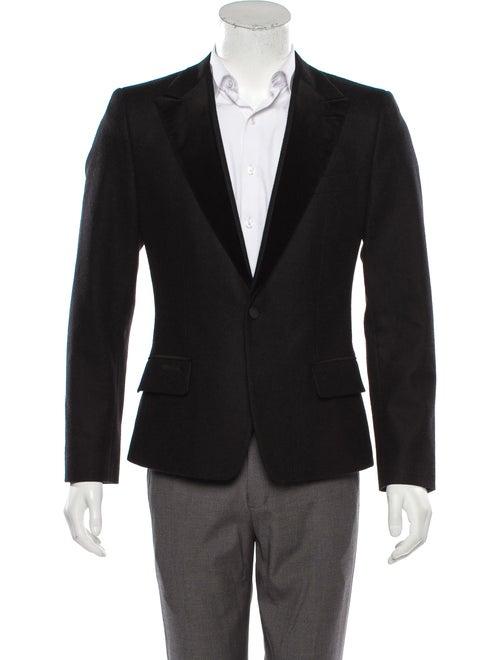Dolce & Gabbana Velvet-Trimmed Wool Tuxedo Jacket… - image 1
