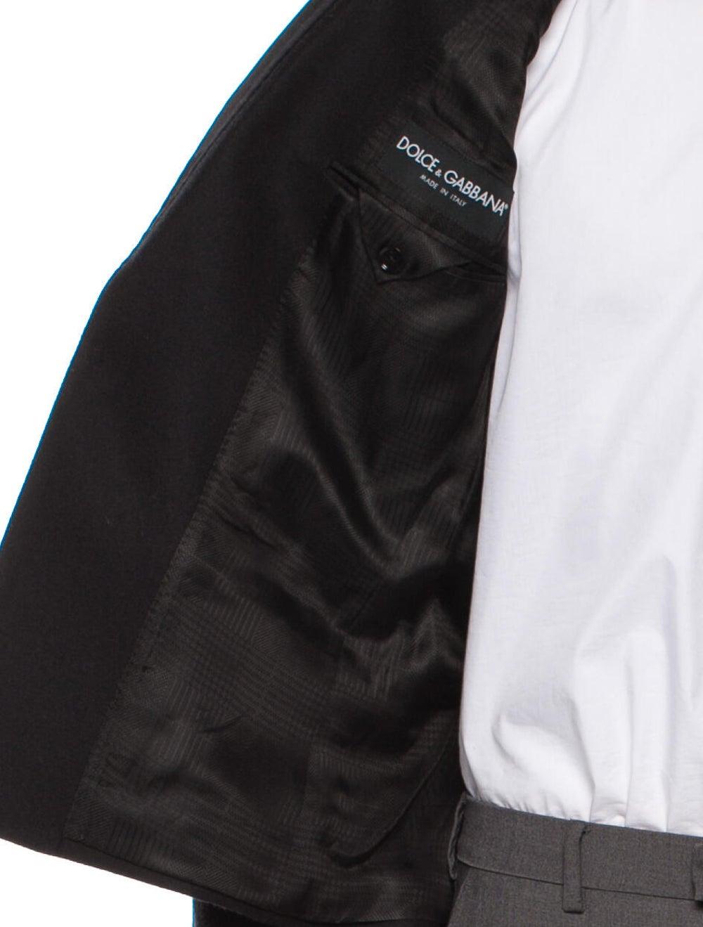 Dolce & Gabbana Velvet-Trimmed Wool Tuxedo Jacket… - image 4