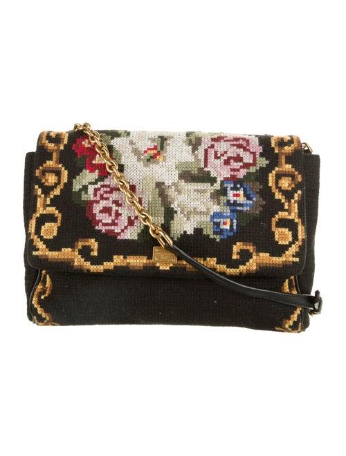 Dolce & Gabbana Crochet Crossbody Bag Black