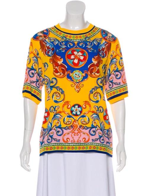 Dolce & Gabbana 2019 Silk Top Yellow