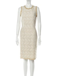 Dolce & Gabbana Lace Pattern Knee-Length Dress w/ Tags