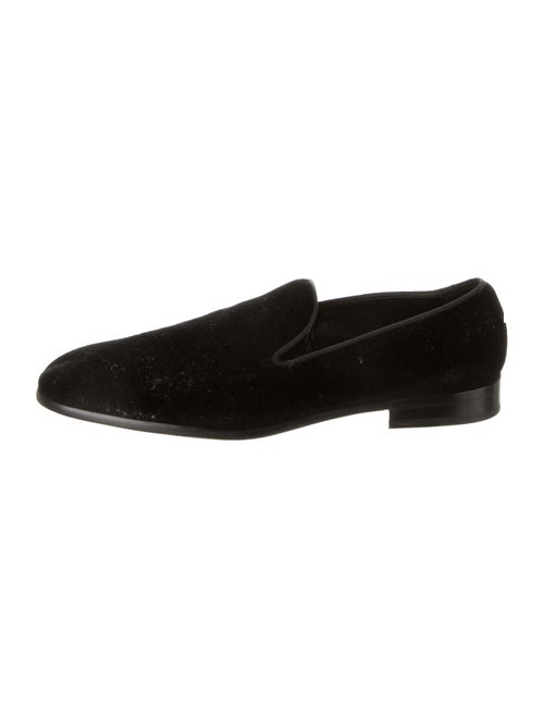 Dolce & Gabbana Velvet Smoking Shoes black