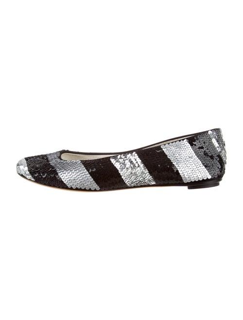 Dolce & Gabbana Striped Ballet Flats Black