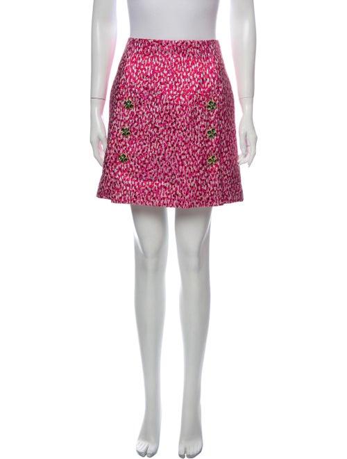 Dolce & Gabbana Printed Mini Skirt Pink