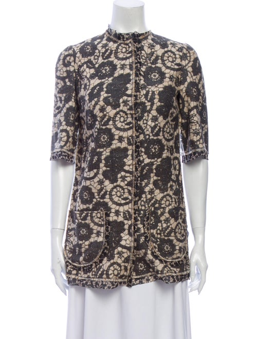 Dolce & Gabbana Silk Lace Pattern Sweater