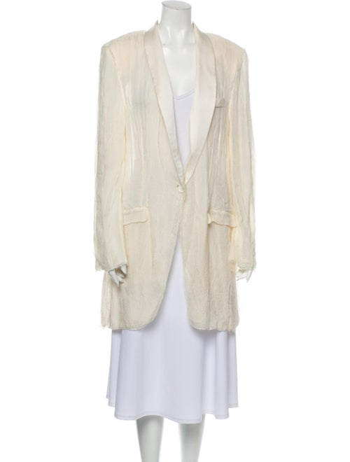 Dolce & Gabbana Silk Coat White