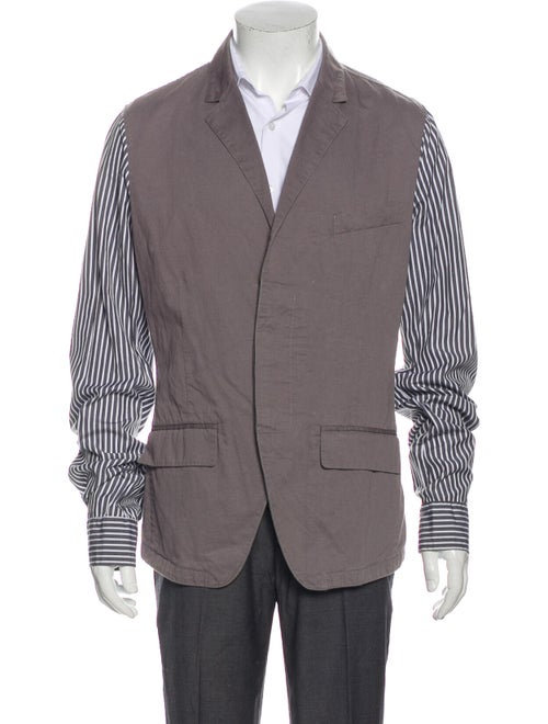 Dolce & Gabbana Striped Sport Coat grey