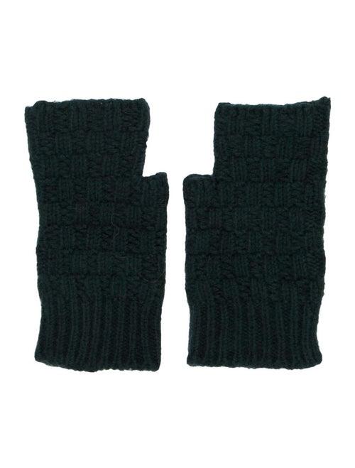 Dolce & Gabbana Wool Knit Gloves Green