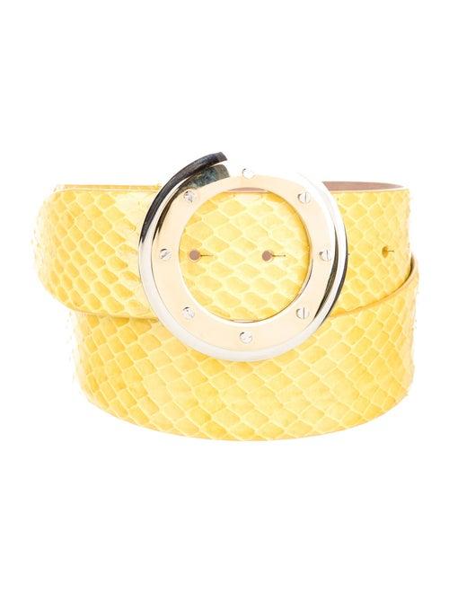 Dolce & Gabbana Python Buckle Belt Yellow - image 1