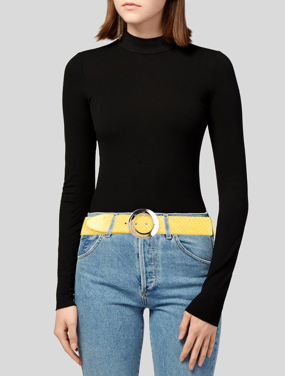 Dolce & Gabbana Python Buckle Belt Yellow - image 2