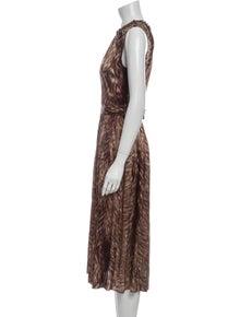 Dolce & Gabbana Silk Midi Length Dress