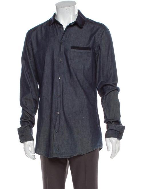 Dolce & Gabbana Long Sleeve Denim Shirt Denim